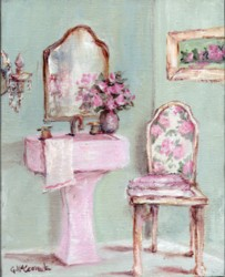 PRINT ON PAPER - Shabby Chic Bathroom - free postabe worldwide